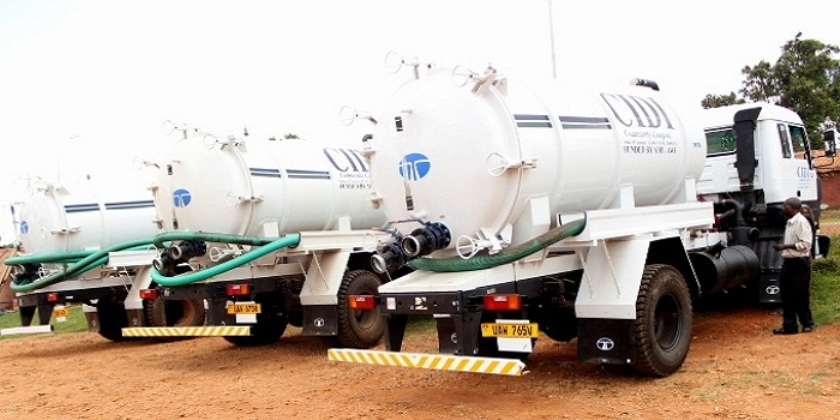 CIDI Cesspool trucks which help improve feacal sludge management in kawempe and ultimately Kampala